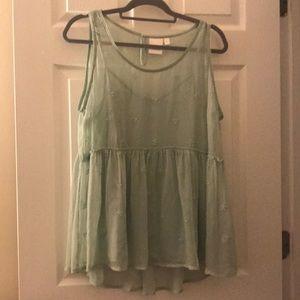 Lauren Conrad Mint green top